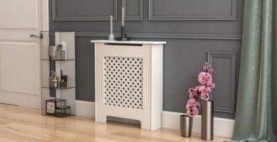 cubre radiador con estante descuento